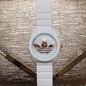 ADIDAS White Rose Gold Tone Watch Adh2918